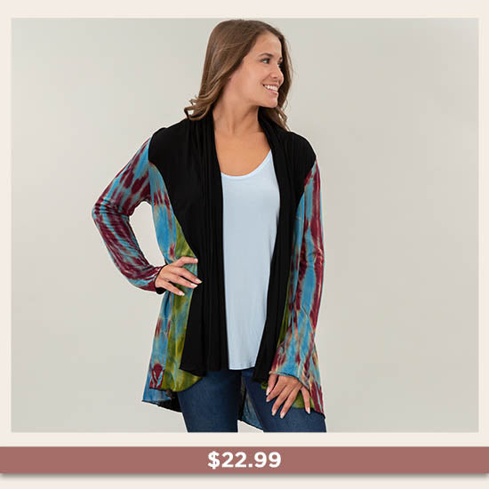 Perfectly Balanced Tie-Dye Open Cardigan - $22.99