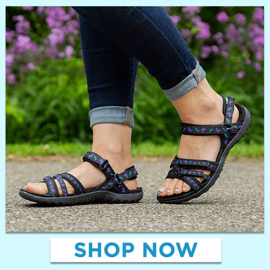 Ultralite™ Fluttering Friends Strappy Sport Sandals
