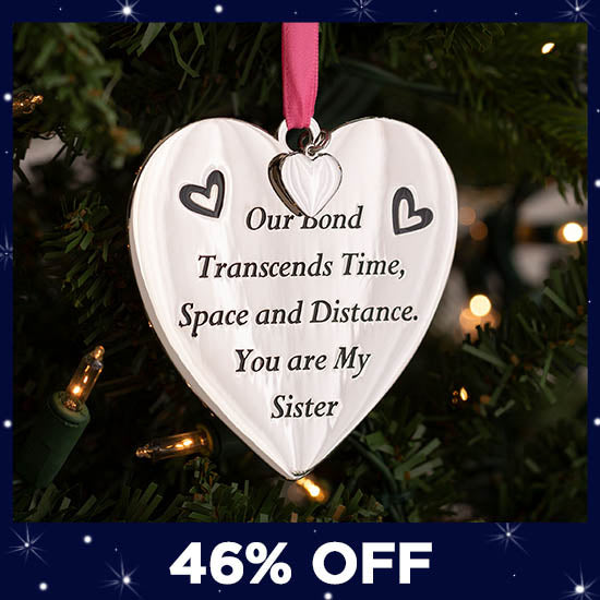 Our Bond Sister Ornament - 46% OFF