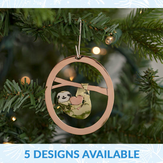 Wildlife Mixed Metal Ornament - 5 Designs Available