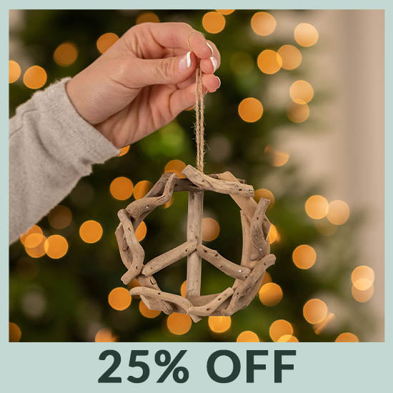 Handmade Recycled Driftwood Ornament - 25% OFF