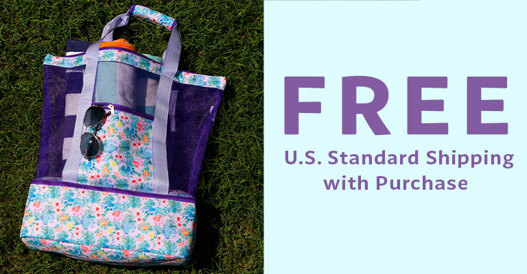 Floral Delight Paw Print Cooler Bag   FREE U.S. Standard Shipping with Purchase