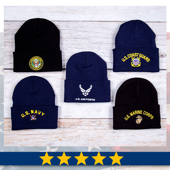 U.S. Military Knit Hat - Five Stars