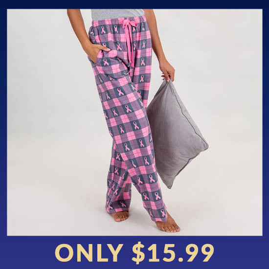 Pink Ribbon Flannel Lounge Pants - Only $15.99