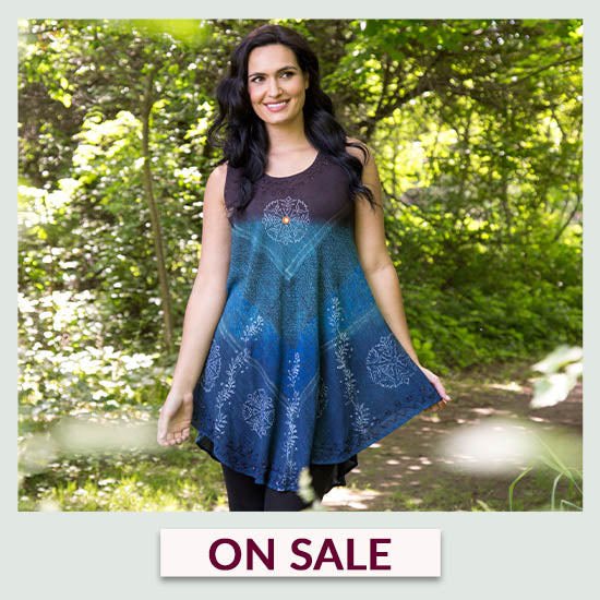 Earth & Sky Sleeveless Tunic - On Sale