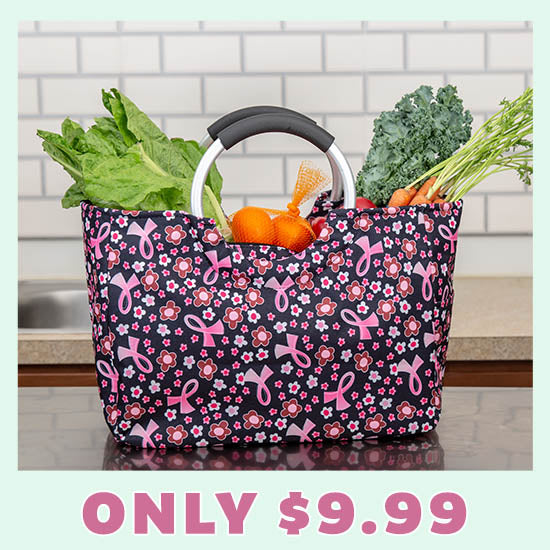 Pink Ribbon Insulated Shopping Bag - Only $9.99