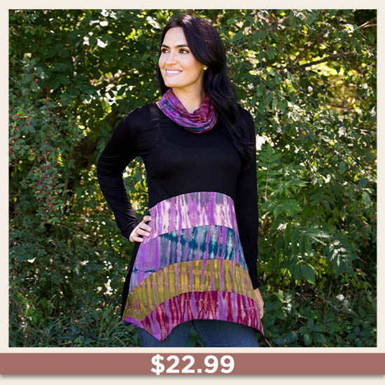 Over the Moon Tunic & Scarf Set - $22.99