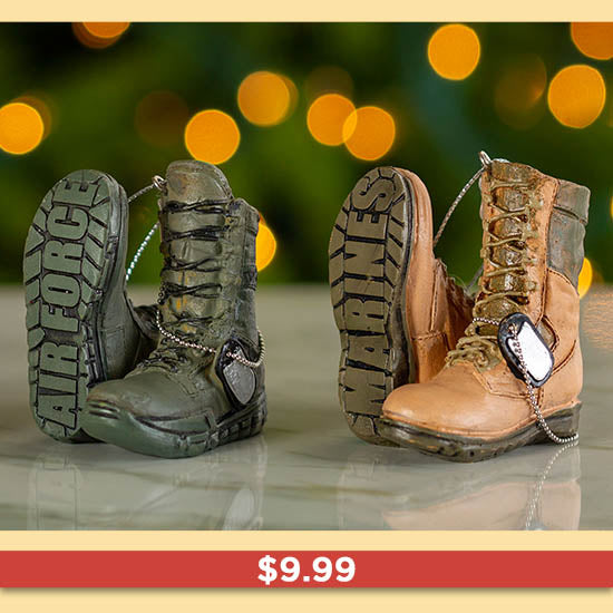 Military Boots Ornament - $9.99