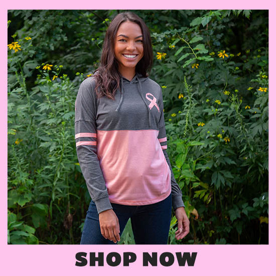 Believe Pink Ribbon Two-Toned Hooded Tee - Shop Now