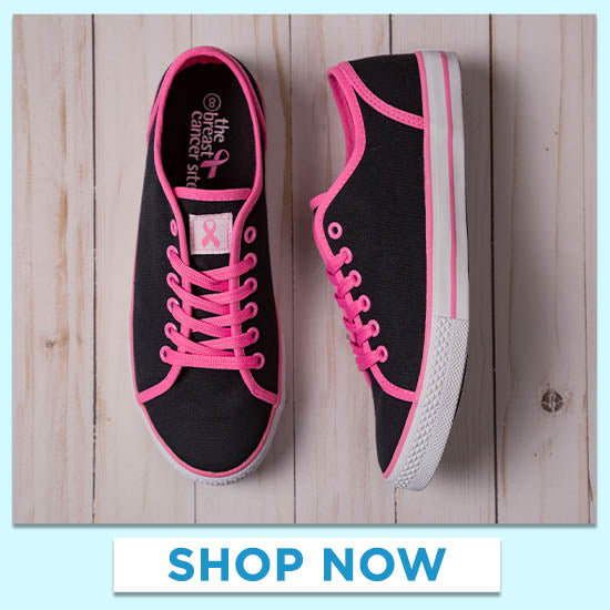 Pink Ribbon Sneakers