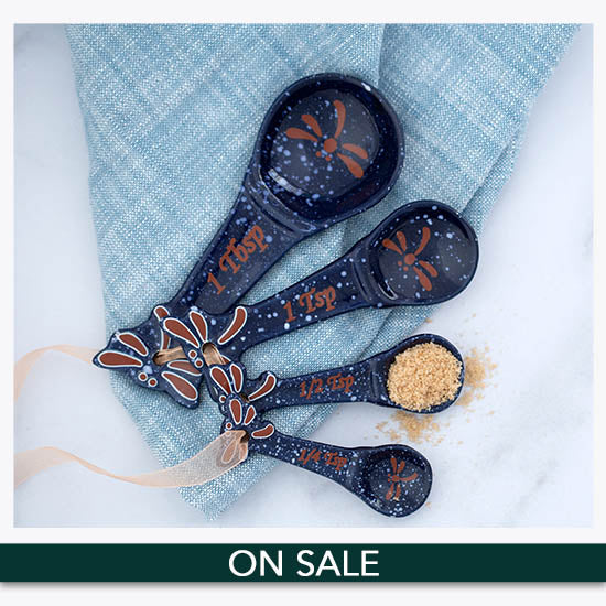 Midnight Dragonfly Ceramic Measuring Spoon Set - On Sale