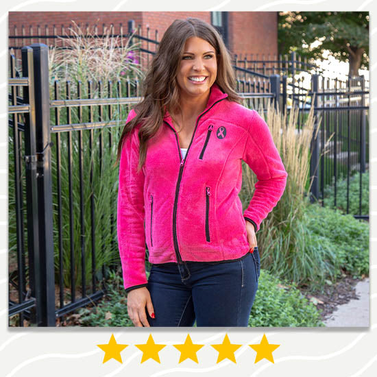Super Cozy™ Pink Ribbon Pink Everest Cozy Jacket - ★★★★★