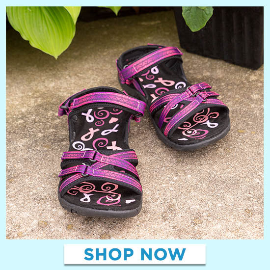 Ultralite™ Pink Ribbon Strappy Sport Sandals - Shop Now