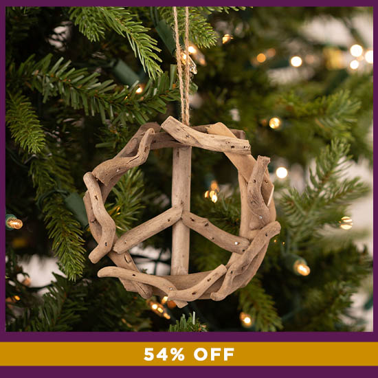 Handmade Recycled Driftwood Ornament - 54% OFF