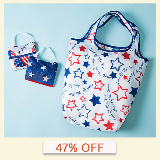 Patriotic Shopping Bags - Set of 3 | 47% OFF