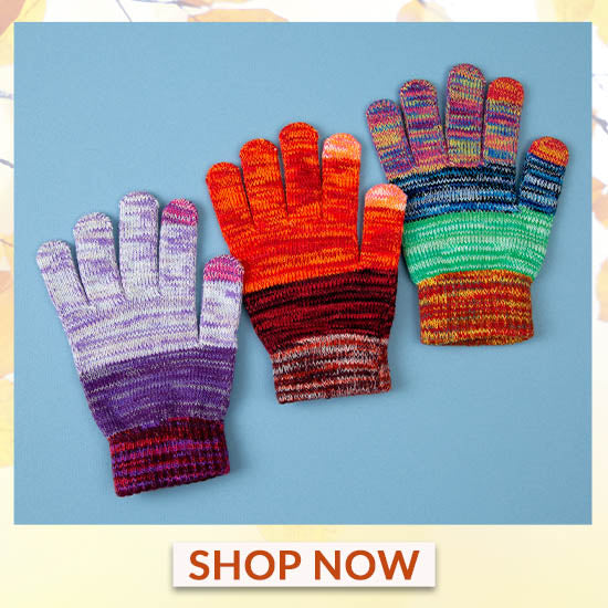 Rainbow Delight Touch Screen Gloves - Shop Now