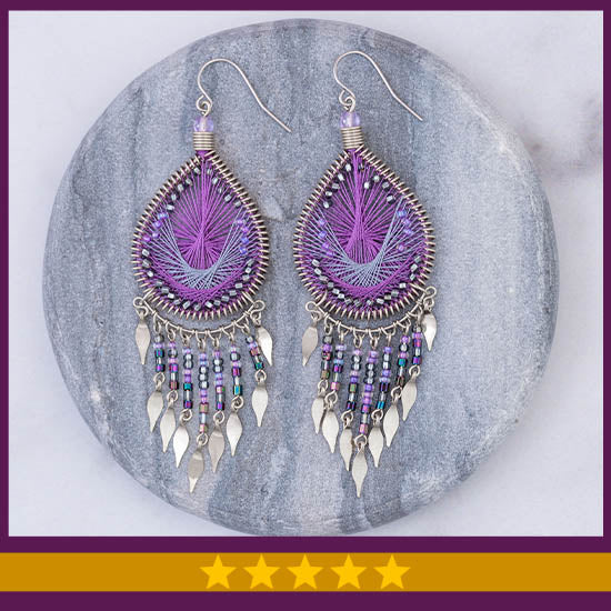 Dazzling Chandelier Thread Earrings  - ★★★★★