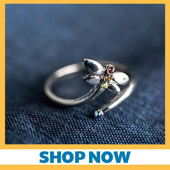 Simple Beauty Dragonfly Adjustable Ring