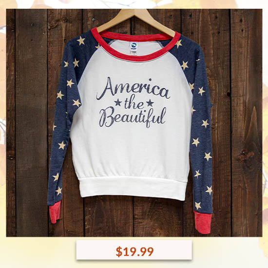 America the Beautiful Long Sleeve Top - $19.99