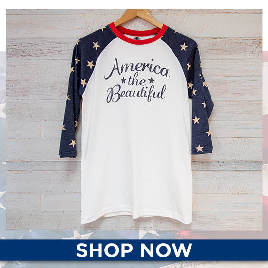 America the Beautiful Baseball Tee - Shop Now