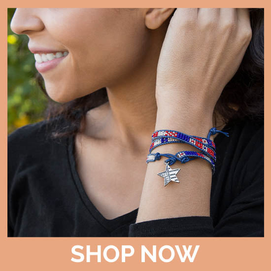 Patriotic Star Leather Wrap
