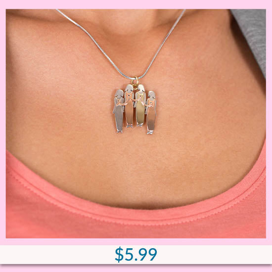 Fighting Together Breast Cancer Necklace - $5.99