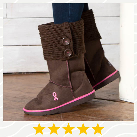 Path To Pink™ Ribbon Sweater Boots - ★★★★★