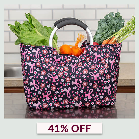 Pink Ribbon Insulated Shopping Bag  - 41% OFF