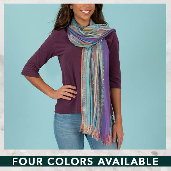 Color Celebration Woven Scarf - Four Colors Available
