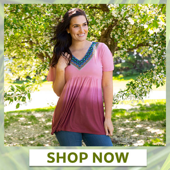 Beaded Beauty Ombre Top