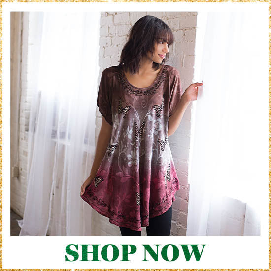 Butterflies at Play Tunic - Shop Now