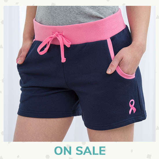 Pink Ribbon Two-Tone Shorts - On Sale