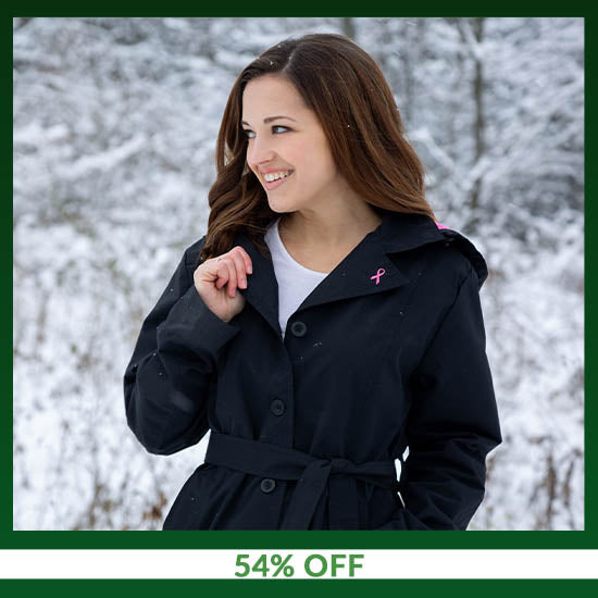 Pink Ribbon Fleece Lined Women's Rain Jacket - 54% OFF