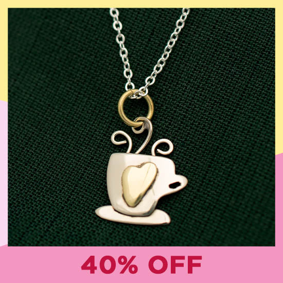 Latte Love Necklace - 40% OFF