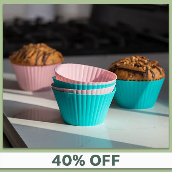 Pastel Silicone Baking Cups - Set of 6 - 40% OFF