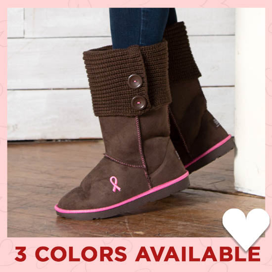 Path To Pink™ Ribbon Sweater Boots - 3 Colors Available