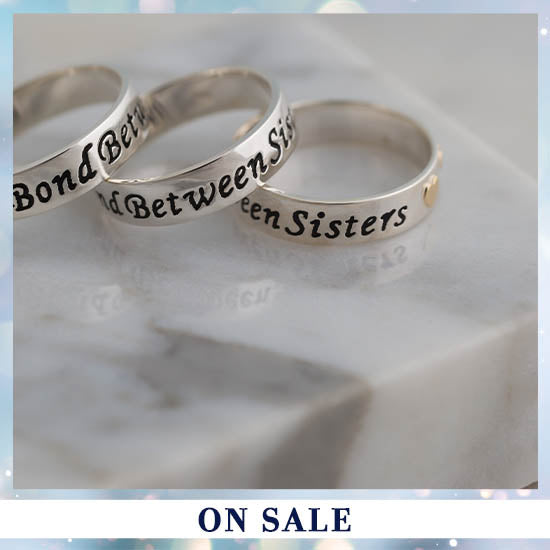 Bond Between Sisters Sterling Ring - 52% OFF