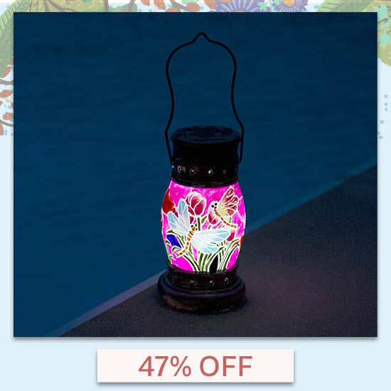 Painted Dragonfly Solar Lantern - 47% OFF