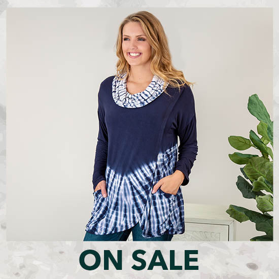 Waves Gone By Crossover Tunic - On Sale