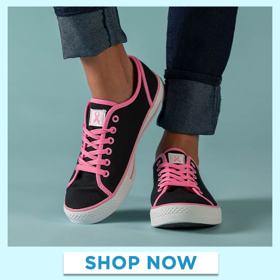 Pink Ribbon Sneakers - Shop Now