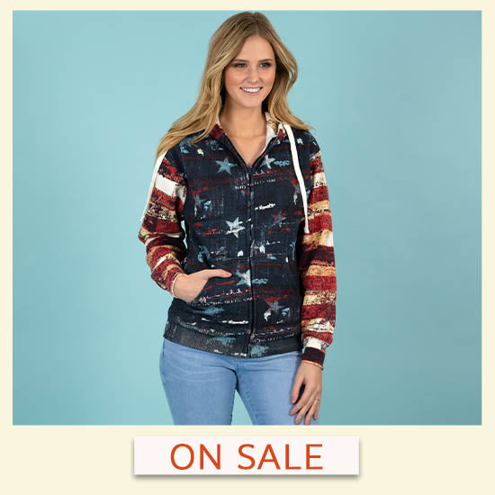 Old Glory Hooded Sweatshirt - On Sale