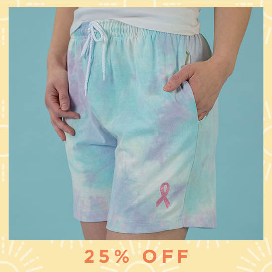 Pink Ribbon Tie-Dye Casual Shorts - 25% OFF