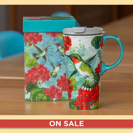 Flights of Fancy Gift Boxed Travel Mug - On Sale