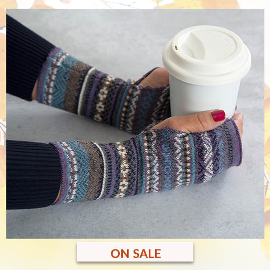 Peruvian Alpaca Wool Fingerless Mittens - On Sale