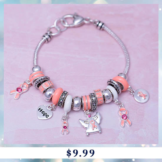 Charmed Life Pink Ribbon Breast Cancer Survivor Bracelet - $9.99