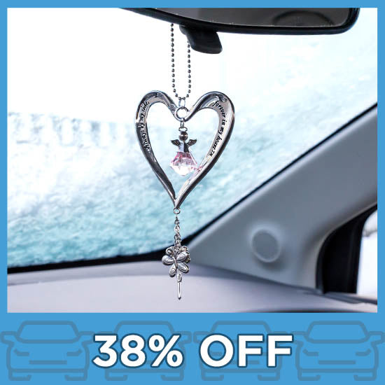 Heart & Angel Car Charm
