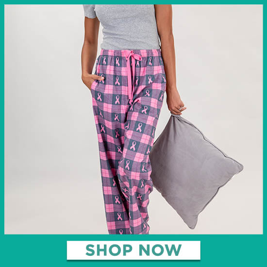 Pink Ribbon Flannel Lounge Pants - Shop Now