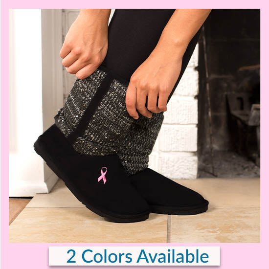 Pink Ribbon Mid Rise Sparkle Knit Boots - 2 Colors Available