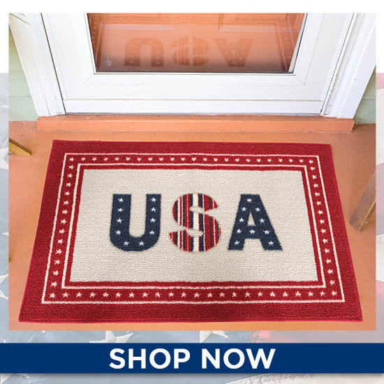 Patriotic U.S.A. Door Mat - Shop Now