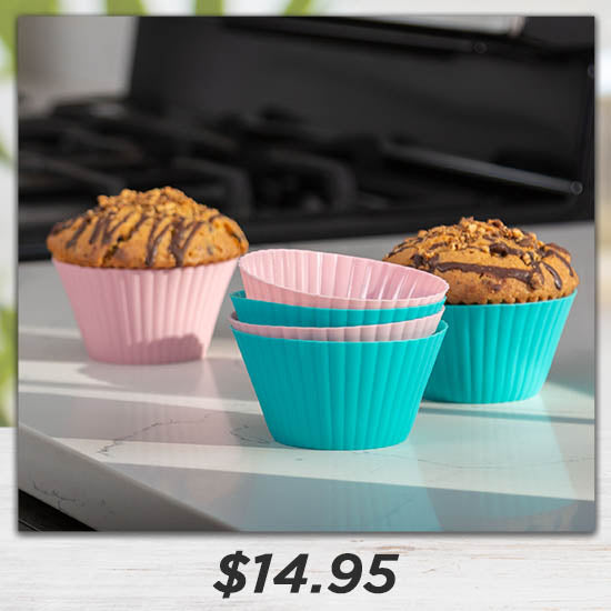 Pastel Silicone Baking Cups - Set of 6 - $14.95